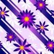Stock Vector: Purple Flower Background