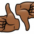 Thumbs Up Thumbs Down — Stock Vector