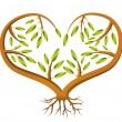 Heart Sapling — Stock Vector