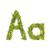 Leaf Font A — Vector de stock