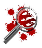 Forensic Illustration — Stock Vector