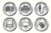 Metal Device Buttons — Stock Vector