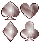 Playing Card Symbols — Stock Vector