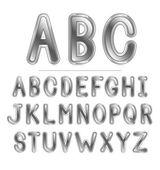 Metal yazı tipi — Stok Vektör