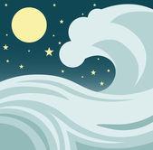 Tsunami — Stock Vector