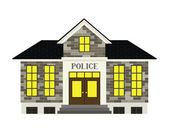 Police Station — Stock Vector