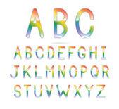 Rainbow Font — Stock Vector
