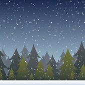 Winter Forest Background — Stock Vector