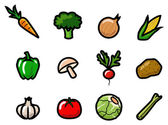 Vegetable Icons — Wektor stockowy