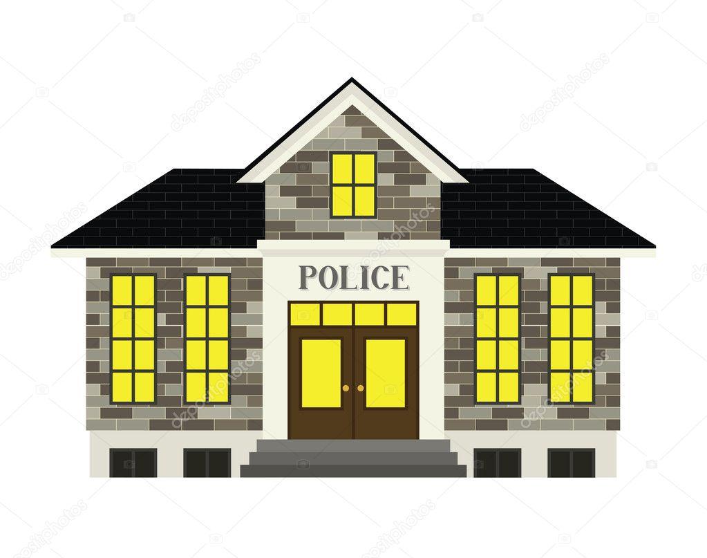 Estación de policía — Vector de stock © AvelKrieg #24801519
