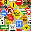 Road Sign Background — 图库矢量图片