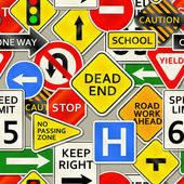 Road Sign Background — Stock Vector