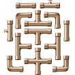 Royalty-Free Stock Vector Image: Copper Pipe Collection