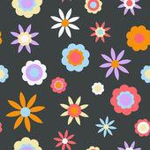 Dark Retro Flower Background — Stock Vector