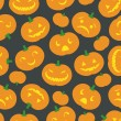 Stock Vector: Halloween Pumpkin Background