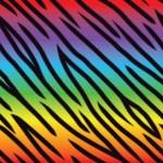 Rainbow Tiger Pattern — Stock Vector