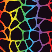радуга жираф шаблон — Cтоковый вектор