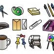 Office Supply Icons — Stockvectorbeeld