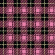 Stock Vector: Pink Plaid