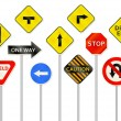 Road Sign Collection — Stock Vector