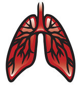 Lungs Icon — Stock Vector