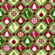 Christmas Quilt Pattern — Stock Vector