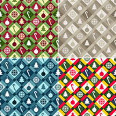 Christmas Quilt Background Collection — Stock Vector