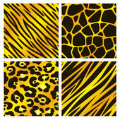 Gold Animal Print Collection — Stock Vector