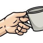 Hand Holding A Mug — Stock Vector #37601159