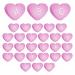 Valentine's Heart Font — Stock Vector