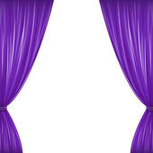 Purple Curtains — Stock Vector