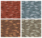 Simple Brick Collection — Stock Vector