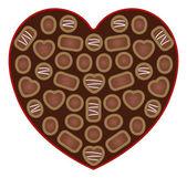 Open Valentine's Chocolates — Stockvektor