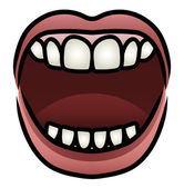 Mouth Yelling — Stock Vector