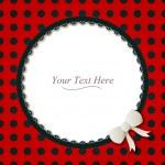 Round Ladybug Frame — Stock Vector #43008885