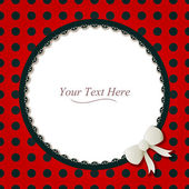 Round Ladybug Frame — Stock Vector