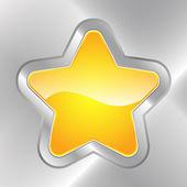 Star Button — Stock Vector