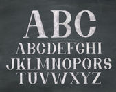Chalk Font — Stock Photo