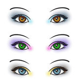 Eye Makeup — Stock Vector