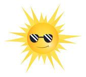Cool Sun — Stock Vector