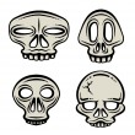Постер, плакат: Halloween Skull Collection