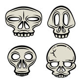 Halloween Skull Collection — Stock Vector