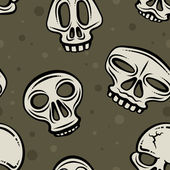 Halloween Skull Backdrop — Vector de stock