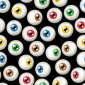 Halloween Eyeball Background — Stock Vector