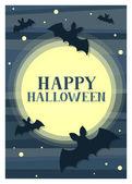 Midnight Halloween Card — Stock Vector