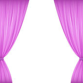 Pink Curtains — Stock Vector
