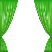 Green Curtains — Stock Vector
