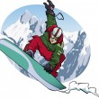 Snowboarding 2011 — Stock Vector