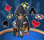 Cara de Poker — Vector de stock
