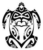 Maori turtle — Stock Vector